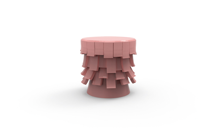 04 squama stool rose quartz